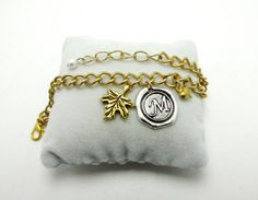 Monogrammed WaxSeal Bracelet antique Silver Wax by 4Everinstyle, $34.00