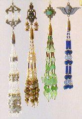 Charming Beaded Tassel Ornaments Pattern set #1 at Sova-Enterprises.com Many Free Bead Patterns available!