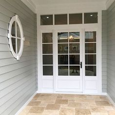 60 trendy exterior home windows entrance Café Exterior, Exterior Wall Tiles, Exterior Wall Cladding, French Exterior, Exterior Stairs, Craftsman Exterior, Cottage Exterior, House Paint Exterior, Exterior Remodel