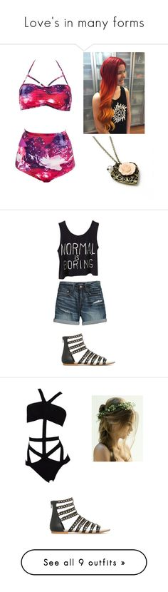 """Love's in many forms"" by callxmexmika on Polyvore featuring Canvas by Lands' End, UGG, Topshop, Moschino, Vans, Sans Souci, County Of Milan, Betsey Johnson, Valentino and Michael Kors"