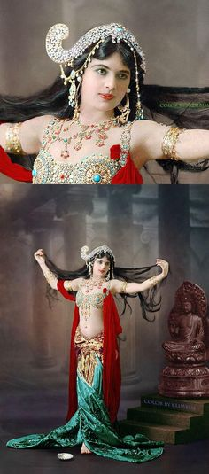 Mata Hari - colorized by Klimbims - I love this brilliant coloring