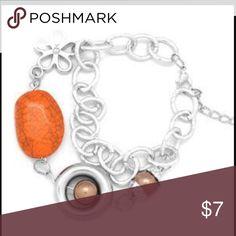 Super cute orange bracelet Super cute orange bracelet.    Bundle 5 jewelry items for $25 Jewelry Bracelets