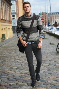 Dark Grey Wash Stretch Skinny Fit Jeans