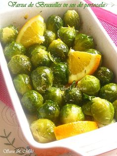 Varza de Bruxelles in sos de portocala, de post Romanian Food, Romanian Recipes, Sprouts, Side Dishes, Food And Drink, Healthy Eating, Cooking Recipes, Vegetables, Brussels
