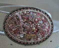 Breast Cancer Awareness Cowgirl Belt Buckle by CreativityAtPlay, $65.00