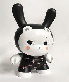 Black Magic Custom Kidrobot Dunny by Andrea Kang