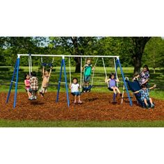 Flexible Flyer Play Around Metal Swing Set - Just $99.99! - http://www.pinchingyourpennies.com/flexible-flyer-play-around-metal-swing-set-just-99-99/ #Swingset, #Walmart