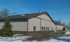 Perka Wood Steel Hybrid Building as deluxe barn and implement shed!  www.perkabuildings.com.  800-467-3752