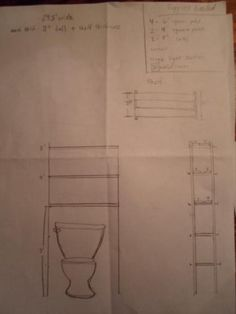 over the toilet bathroom shelf plans