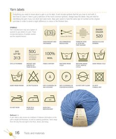 How to read a yarn label - from Knit Step By Step #knitting #yarn