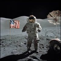 On the moon!