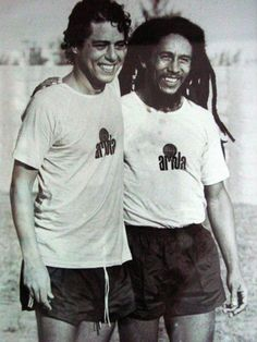 chico buarque & bob marley. Awesome people hanging out