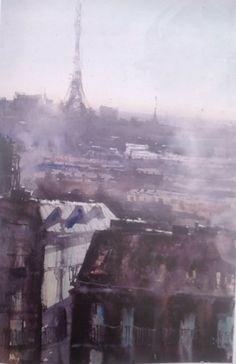 Paris Water Color,Herman Pekel