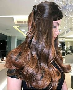 Hair Color Ideas For Brunettes Copper Brown Hair Mocha Ideas Dyed Hair Gray Hair Color Ideas For Brunettes Violet Blonde Hair With Highlights, Brown Blonde Hair, Brunette Hair, Brunette Color, Color Highlights, Gray Hair, Best Ombre Hair, Ombre Hair Color, Ombre Bob