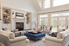 decorating ideas for the living room furniture layout using balance and symmetry with couch and chair placement