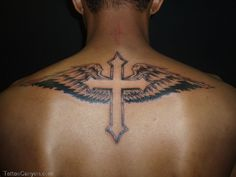 Download Free 16681 body tattoo design cool cross tattoos with wings for man tattoo ... to use and take to your artist.