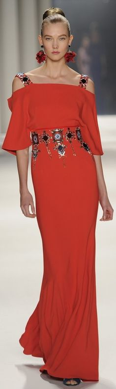 Carolina Herrera - red dress - 2014