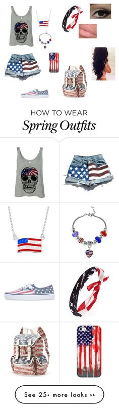 """""""Made in America"""" by thepersonyoudontknow on Polyvore Cute Edgy Outfits, Red White Blue, Spring Outfits, Holiday Ideas, America, My Style, Polyvore, How To Wear, Fashion"""