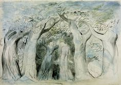 Artist William Blake (1757‑1827) Title Dante and Virgil Penetrating the Forest From Illustrations to Dante's 'Divine Comedy' Date 1824-7 MediumGraphite, ink and watercolour on paper Dimensionssupport: 371 x 527 mm Collection Tate