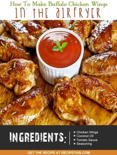 Airfryer Recipes | How To Make Buffalo Chicken Wings In The Airfryer from RecipeThis.com