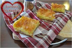 Γαλατόπιτα Group Meals, Greek Recipes, Bon Appetit, Tarts, Drinking, Good Food, Food And Drink, Fruit, Cooking