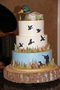 duck hunting cake