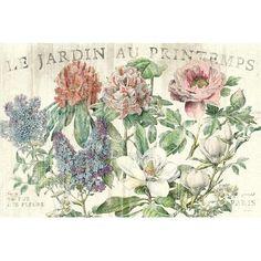 """Lark Manor Le Jardin Printemps' Graphic Art on Wrapped Canvas Size: 40"""" H x 60"""" W x 1.5"""" D"""
