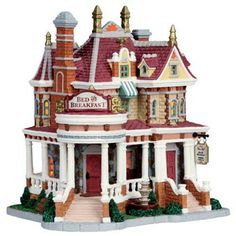 lemax collectibles lemax caddington village lighted building lemax pine hill bed breakfast