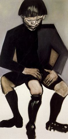 'The Human Tripod' - 1988 - by Marlene Dumas (South African, b. 1953)