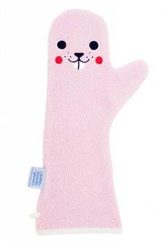 baby shower glove roze Bever