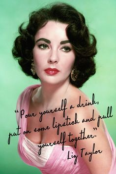 Today I'm Channelling Liz Taylor