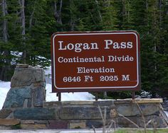 Logan Pass on the Continental Divide