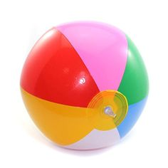 """Inflatable Beach Ball Swimming Pool Fun Water Game Garden Toy Rainbow Color Size 9"""" Gogogo https://www.amazon.ca/dp/B014HA7H0Y/ref=cm_sw_r_pi_dp_pqF5wbMZHSD57"""