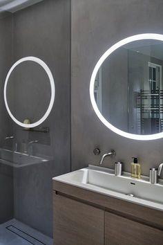 316 best illuminated backlit led round bathroom mirror led vanity rh pinterest com