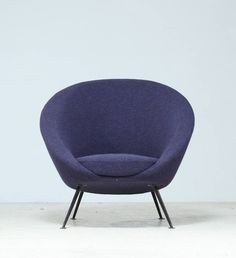 Rare Ico Parisi Egg Chair Model 813 in Original Upholstery, Cassina, Italy, 1950 image 5