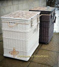Мебель ручной работы. Заказать Тумбы прикроватные плетеные