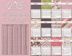NEW 2015 -52 Week Money Challenge 2015 -  Printable!  Get a jar and each week put in the amount listed. It starts with one buck and goes up by one more each week. By the last week of the year you will have $1,378.00!!! Print and stick the chart right into the big jar, or tape onto it so it wont get lost. Fun and pretty do-able! 52 Week Savings, Vacation Savings, Savings Plan, 52 Week Saving Plan, Saving Ideas, 52 Week Money Challenge, Big Jar, Inspirational Videos, Financial Planning