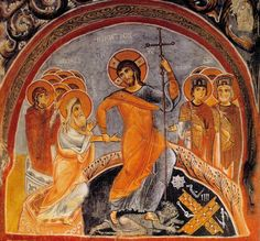 Fresco of Jesus' descent into hell, to save the dead, from the Church of St. Saviour in Istanbul - Cerca con Google