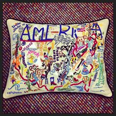 "Our favorite pillow! ""America"" by cat studio"
