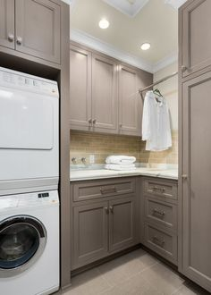Floor To Ceiling Laundry Room Cabinets Design Ideas. 7 Perfect Colors To Paint Your Mudroom. Home Design Ideas Grey Laundry Rooms, Laundry Room Cabinets, Basement Laundry, Laundry Room Organization, Small Laundry, Laundry Room Design, Storage Organization, Storage Shelves, Laundry Storage