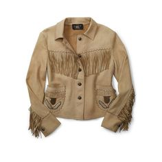 Ralph Lauren Rrl Woodland Beaded Leather Jacket (€1.995) ❤ liked on Polyvore featuring outerwear, jackets, leather jacket, brown jacket, ralph lauren, real leather jacket and fringe leather jacket
