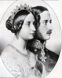 Queen Victoria and Prince Albert.