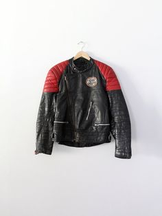 vintage motorcycle jacket / 1980s racing jacket by 86Vintage86,