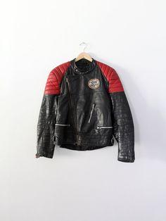 vintage motorcycle jacket / 1980s racing jacket by 86Vintage86,