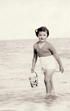 +~+~ Vintage Photograph ~+~+ Summer time with her favourite sand pail