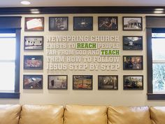 I had the opportunity to design our church's vision for our senior pastor's area here at NewSpring Church. This is the vision of what NewSpring Church believes and the mission of what we're trying...