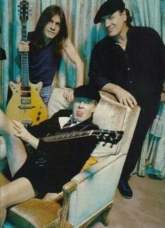 """AC/DC Band - Brothers Malcolm, Angus, and George Young were born in Glasgow, Scotland, and moved to Sydney in 1963. George became a member of the Easybeats, one of Australia's most successful bands of the 1960s. In 1966, they became the first local rock act to have an international hit, with the song """"Friday on My Mind"""". Malcolm followed in George's footsteps by playing with a Newcastle, New South Wales band called the Velvet Underground wikipedia"""