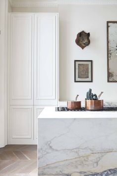 White eclecttic kitchen by Blakes London. Photo by Malcolm Menzies.