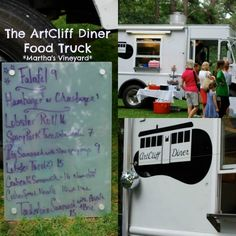 The ArtCliff Diner Food Truck: A delicious diner-style trucks serving up decadent eats like Lobster Tacos and Nutella Donuts on Martha's Vineyard