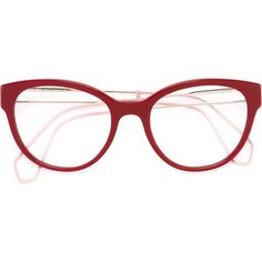2d91cf8d404 Miu Miu Eyewear round frame glasses ( 304) ❤ liked on Polyvore featuring  accessories